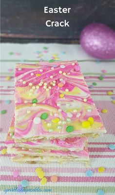 Easter is my favorite holiday of the year. What better a way to celebrate the sweets of the holiday than with this version of Easter crack.  Same great recipe as Christmas crack with colored chocolate to embrace Easter.  Pin for Later!