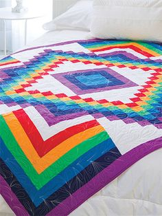 Quilting - Holiday & Seasonal Patterns - Spring Patterns - Rainbow Bargello