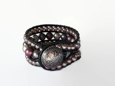 Silver Passion 3 row wrap bracelet  one of a by CreativeManiacs