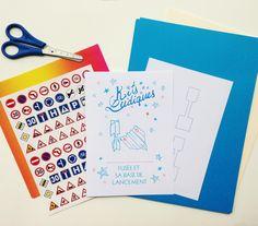 Kits Ludiques - Kit atelier « fusée origami
