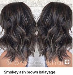 100 dark hair with heavy platinum highlights perfect when you're going grey page – dyed hair Ash Brown Balayage, Balayage Brunette, Brunette Hair, Balayage Asian Hair, Dark Brunette Balayage Hair, Black Balayage, Short Balayage, Ombre Brown, Brown Hair Colors