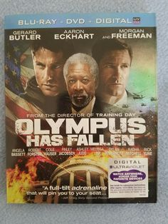 OLYMPUS HAS FALLEN BLU RAY + DVD (GERARD BUTLER, MORGAN FREEMAN) BRAND NEW