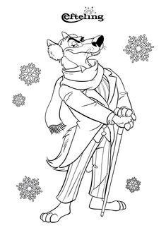 Met zijn oorwarmers op vindt de Wolf de winter helemaal niet erg. Hij vind de winters in de Efteling de betoverendste winters die er zijn. Geniet deze vakantie van deze creatieve kleurplaten en breng de Efteling bij je thuis.😍  Wolf doesn't mind winter at all. He thinks the winters in Efteling are the most enchanting winters there are. Enjoy these creative coloring pages this holiday and bring Efteling into your home.✨ #efteling #DIY #coloringpage #kleuren #colouring #kleurplaat Buy Tickets Online, Short Break, Fairy Tales, Diy Crafts, World, Painting, Color, Art, Art Background