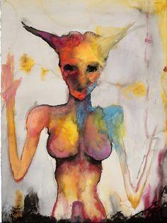 marilyn manson artwork   Baphometh, Painting by Marilyn Manson