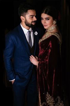 New Virat Anushka Wedding Pictures are here along with never seen before Wedding Teaser from Tuscany. Anushka Sharma Engagement, Engagement Saree, Engagement Dresses, Indian Engagement Outfit, Engagement Dress For Groom, Indian Wedding Couple, Indian Wedding Outfits, Indian Outfits, Indian Reception Outfit