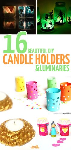 DIY Candle Holders and Luminaries