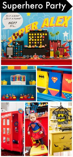 Wow, talk about a phenomenal superhero boy birthday party!! The decorations, desserts, and costumes are terrific! See more party ideas at CatchMyParty.com.