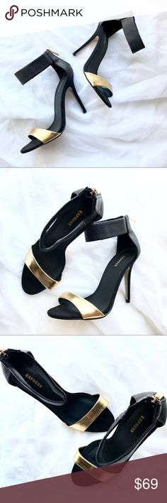 Express Black & Gold Stiletto Heels Preloved very sexy and sleek Express black and gold heels in pristine condition Express Shoes Heels