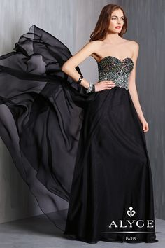 Alyce Prom Dress Style #6319 Full View
