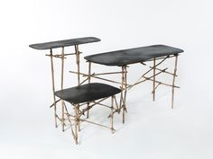 glithero extends ad-hoc bamboo framed les french furniture series for gallery fumi French Furniture, Table Furniture, Cool Furniture, Furniture Design, Beautiful Interior Design, Contemporary Interior, Beautiful Interiors, French Country Decorating, Vintage Table