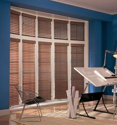 Comfortex Woodwinds S-Curve 2 Faux Wood Blinds Window Coverings, Window Treatments, Blinds For Large Windows, Cellular Shades, Faux Wood Blinds, Shades Blinds, Living Room Windows, Backyard, Furniture