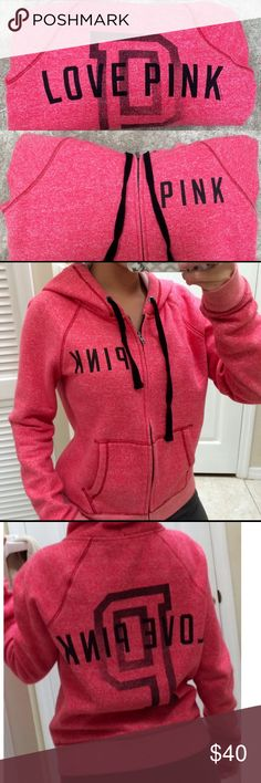 VS Sweatshirt Victoria Secret PINK sweatshirt• In excellent condition• Worn a few times• No signs of any visible wear• 75% cotton, 25% polyester• The color is mixture between a pink and red• PINK Victoria's Secret Tops Sweatshirts & Hoodies