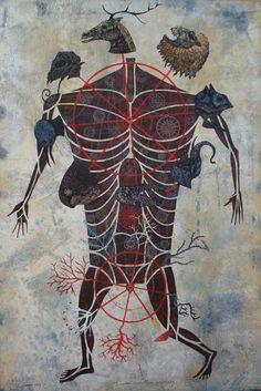 Carlos Estevez Carlos Estevez, Popular Art, Medical Illustration, 2d Art, Sculpture, Art Object, Occult, Amazing Art, Illustrators