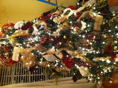Christmas tree: burlap, crystals, leopard print, butterflies, crosses & glitter - oh my!