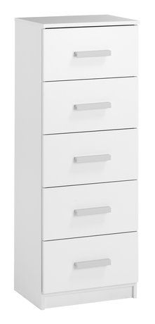 Lipasto KABDRUP 5 laatikkoa kapea valk. | JYSK Filing Cabinet, Dresser, Interior Design, Storage, Furniture, Home Decor, Bedroom, House, Nest Design