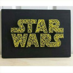 This piece is perfect for any Star Wars fan! This piece measures by and if shipped ready to hang. Please remember that colors may Más Star Wars Logos, Star Wars Crafts, Star Wars Decor, Regalos Star Wars, Birthday Nail Art, Birthday Design, Cadre Diy, Arte Linear, Star Wars Bedroom