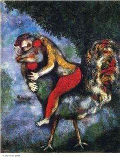 The Rooster - Marc Chagall