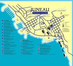 Downtown Juneau Map - Downtown Juneau AK USA • mappery