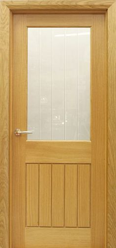 Mexicano 1 Lite A-Grade White Oak Door (40mm) | Internal & Interior Doors | Oak Doors
