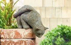 Cement Cat Shelf Sitter #Kitty #Figurine #Cat #ShelfSitter #GrasslandsRoad #FurryFriends #CatMama