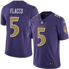 Baltimore Ravens #5 Joe Flacco Purple Color Rush Limited Jersey