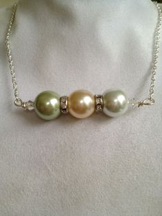 Bridal Pearl and Crystal Necklace by joytoyou41 on Etsy, $30.00