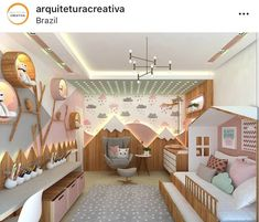Baby Bedroom, Girls Bedroom, Childs Bedroom, Bedroom Decor, Bedroom Wall, Bedroom Ideas, Kids Room Design, Bed Design, Toddler Rooms