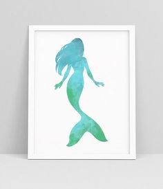 A hand drawn mermaid wall art decor poster for your beach and ocean inspired decor. And of course mermaids are just plain awesome. Print as many as you like and have an army of mermaids in your favorite space too!  ►►What is included◄◄ Instant download JPG Files: 11 x 14 (28 x 35 cm) 8 x 10 (20 x 25 cm) 5 x 7 (12.5 x 18 cm)  Need different colors or size? For an additional fee this printable can be changed to any color or size you need. Feel free to send me a message for more details. The…