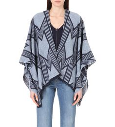 MAJE Eclair ethnic wool shawl