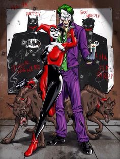 Find images and videos about batman, joker and harley quinn on We Heart It - the app to get lost in what you love. Comic Book Characters, Comic Character, Comic Books Art, Comic Art, O Joker, Joker And Harley Quinn, Joker Pics, Dc Comics, Geeks