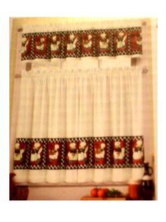 Fat Chefs Kitchen Curtains Tiers Valance Set 3 Piece Set Of Curtains With Chefs On A