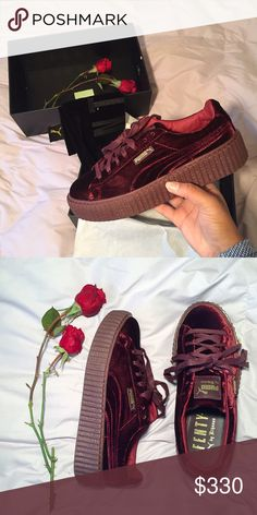 c3c538c65ddaa5 RED VELVET FENTY PUMAxRIHANNA Hi! I m selling my sold out pumas in a · Pumas  ShoesShoes SneakersMore ...