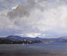 Lifting Cloud, Sandy Bay (oil on canvas), by Ken Knight - http://www.kenknight.com.au/gallery