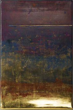 """Landscape, Horizon, Orbite II"" tempera and gold leaf by Sei Arimori (© 2009)"