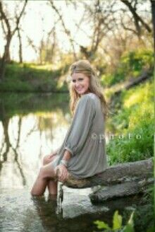 Senior pic..toes in the water