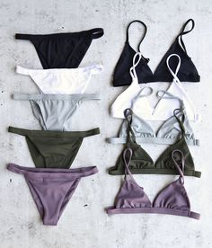 One of our best sellers - the minimalist bikini in multiple colors - all made in the USA / made in LA. Visit shophearts.com for the full collection!