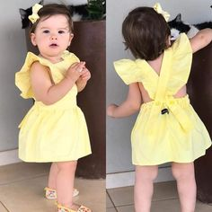 Image may contain: 1 person, child Baby Girl Party Dresses, Little Girl Dresses, Baby Outfits, Kids Outfits, Baby Girl Fashion, Kids Fashion, Baby Dress Design, Stylish Kids, Baby Sewing