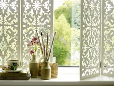 Folding screens and decorative shutters from Jali Ltd are enchanting, elegant and so easy to design and use! Window Screens, Blinds For Windows, Window Panels, Window Coverings, Shutter Blinds, Window Treatments, Interior Design Inspiration, Home Decor Inspiration, Decor Interior Design