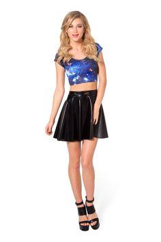 Galaxy Blue Nana Suit Top - LIMITED › Black Milk Clothing