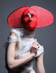 DINU BODICIU | HATS | MILLINERY | RED | HEAD WEAR | NOT JUST A LABEL