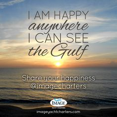 I am happy anywhere I can see the Gulf—share your happiness with us @imagecharters #fortmyers #florida