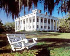 Does not get any more Southern than this Plantation with a Swing!♥  Located in St. Francisville, LA: Greenwood Plantation has a lovely B&B.