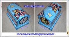 Cofre baú pirata - mdf madeira http://www.amocarte.blogspot.com.br/