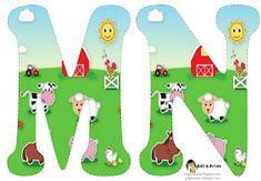 Alfabeto de la Granja. | Oh my Alfabetos! Farm Animal Party, Farm Party, Farm Birthday, Animal Birthday, Le Pré Catelan, Farm Lessons, Alfabeto Animal, Farm Unit, Juan Les Pins