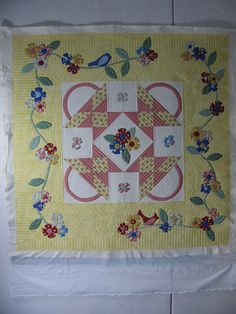 basket quilt in sweet colors