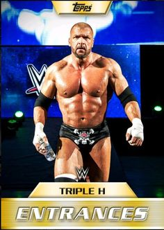 2016 Topps WWE Slam Entrances Triple H GOLD Silver Bronze 3X Digital Card