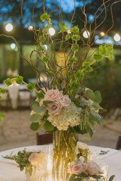 Elegant Outdoor Texas Wedding from Day 7 Photography - outdoor wedding centerpiece idea