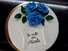 Marcy Maria: Tort cu trandafiri albastri