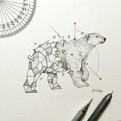 Картинка с тегом «art, drawing, and bear»