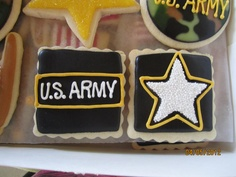 ARMY logo cookies